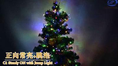 圣诞树灯串+跳泡泡
