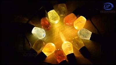 Color light bulb string