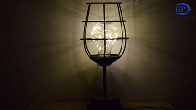 Creative wine glass wrought iron lamp