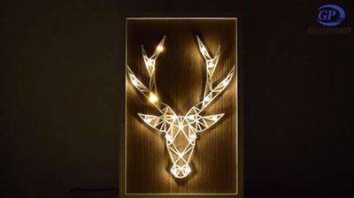 麋鹿相框灯