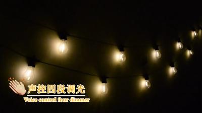 暖白色灯泡灯串